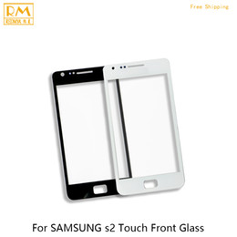 Wholesale Digitizer For Galaxy S2 - 5pcs lot Front Glass For Samsung Galaxy S2 I9100, S3 I9300, S3 MINI I8190 Outer Glass Touch Screen Panel Digitizer Sensor Cellphone Parts