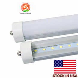 Wholesale Fluorescent Lights - LED tube FA8 UL T8 8ft LED Tube Lights Single Pin FA8 Led Lights 45W 4800 lumens Fluorescent light AC 110-277V