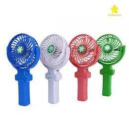 Wholesale Mini Handheld Electric Fans - NEW Handy USB Fan Foldable Handle Mini Charging Electric Fans Snowflake Handheld Portable for Home Office Gifts with Reatil Box