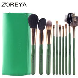 Wholesale Brush Zoreya - Zoreya Brand 12Pcs Goat Hair Makeup Brushes Professional Fashion Soft Cosmetic Brushes As Beauty Tool