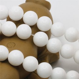 Wholesale Tridacna Jewelry - 4mm 6mm 10mm 12mm Hot Sale White Tridacna Stones Loose Beads Jasper Jade Round Diy Crafts Jewelry Making Crystal Gifts 15inch