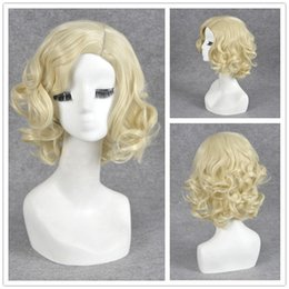 Wholesale Queen Small - FASHION WOMEN'S WIG SHORT BLOND CURLY TEMPERAMENT RETRO QUEEN HAIR WIGS