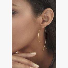 Wholesale Designer Handmade Earrings - Fashion Simple Designer Handmade Fish Shaped Hoop Copper Wire Earrings for Women Brincos de gota Feminino