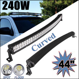 """Wholesale Pickup Trucks 4x4 - 42 inch 240W Curved Led Work Light Bar Driving Off-road Lamp Combo Beam Truck Pickup Tractor Boat Jeep Suv ATV UTE 4X4 4WD 40"""" 42"""" 44"""""""