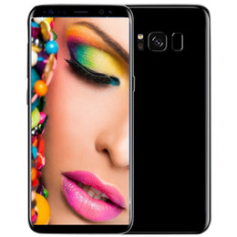 Wholesale Nano Sim Free - Free DHL Goophone S8 S8+ plus cell phones android 7.0 octa core shown 4G LTE MTK6592 4GB RAM 64G t mobile smartphones