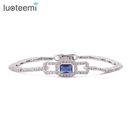 Wholesale Jewelry Sets Made China - LUOTEEMI Luxury Copper Anniversary Made with AAA Cubic Zircon Bracelet for Women High Quality Jewelry for Wedding Accessories