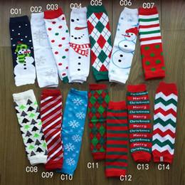 Wholesale Chevron Tights - 2017 New Baby Kids Boys girls Christmas Leg Warmer Chevron infant colorful leg warmer Baby socks Legging Tights Leg Warmers