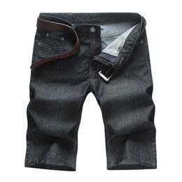 Wholesale Denim Fat Pants - Wholesale-The new fat plus fat XL Men's waist denim shorts tide male black loose denim pants
