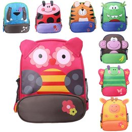 Wholesale Bag Children Backpacks - Kids Cartoon Animal Shoulder Bags Boys Girls Cute Fashion Backpacks Schoolbags Children Baby Toddler Canvas Handbag Tote Bags For Students