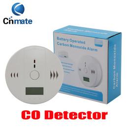 Wholesale Wholesale Carbon Monoxide Alarms - CO Carbon Monoxide Tester Alarm Warning Sensor Detector Gas Fire Poisoning Detectors LCD Display Security Surveillance Home Safety Alarms