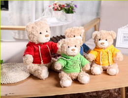 Wholesale Teddy Bears Dresses - factory wholesale dressed in clothes teddy bear new cartoon clothing bear doll