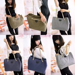 Wholesale Wholesale Hobo Messenger - Wholesale-Modern Women Lady Canvas Messenger Purse Satchel Tote Shopper Handbag Hobo Shoulder Bag