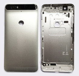 Wholesale New Nexus Cover - New!For Huawei Google Nexus 6P Battery Back Housing Cover with top and lower Glass Replacement