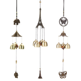 Wholesale Cooper Antique - Antique Cooper Tubes Bells Windchime Outdoor Wind Chimes Living Yard Garden Home Hanging Decoration Ornaments