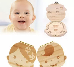 Wholesale Wholesale Baby Keepsakes - Baby Milk Tooth Collection Memorial child Tooth Box Cute and Beautiful Wooden Tooth Box great gifts creative for kids