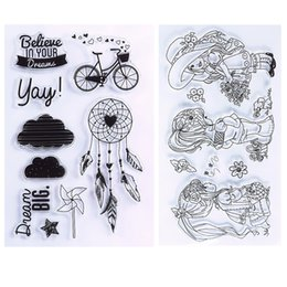Wholesale Stamps Albums - New Transparent Clear Silicone Stamp Seal For DIY Scrapbooking photo Album Decorative Rubber Stamp Sheets #94565