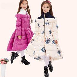 Wholesale Long Down Coat Children - -25 degree russian winter children clothing girls winter, Waterproof kids clothing girls parka Dress ,dresses for girls snow
