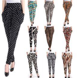 Wholesale Harem Pants Women Zebra - Women's Model Loose harem baggy pants Fashion leopard zebra dot casual long pants Autumn summer hip hop pant