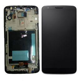 Lg g2 pantalla de visualización online-Para LG Optimus G2 D800 D801 D802 D805 pantalla LCD + digitalizador de pantalla táctil con marco de piezas completas envío gratuito