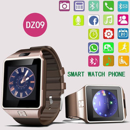 Wholesale Facebook Messages - Bluetooth Smart Watches DZ09 Smartwatch For Android Phone Clock Support Facebook Whatsapp SD SIM