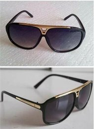 Wholesale Mens Sunglasses High Quality - 1Pcs High Quality Brand Sun glasses Evidence Sunglasses Designer Glasses Eyewear mens Womens Polished Black Sunglasses come with box case