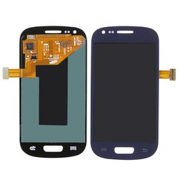 Wholesale Lcd Screen Galaxy S3 Mini - Test Working Well LCD Display For Samsung Galaxy S3 mini i8190 LCD Touch Screen with Digitizer Frame