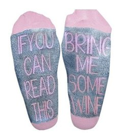 Wholesale Wholesale Mens Female - If You can read this Bring Me a Glass of Wine Beer letter mens Cotton Socks unisex Female Thermal Warm Christmas Socks for men