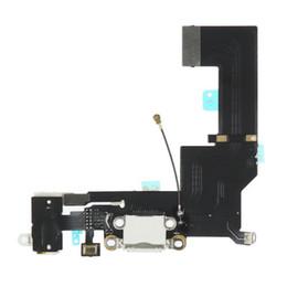 reparación de puerto micro usb Rebajas Reparación original del reemplazo de la cinta del cable del cargador del puerto de carga micro micro original para el iPhone SE blanco y negro