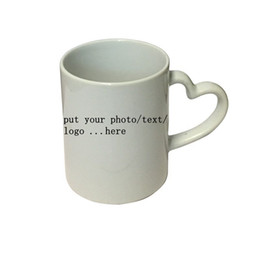 Wholesale Black Magic Designs - Personalized Customized printing your photo here love heart shape handle Newest Design Magic Color Changing Coffee Mug creative Gifts