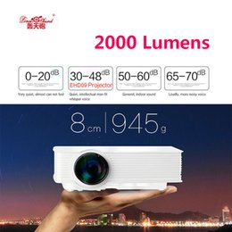 Wholesale micro projector lcd - Wholesale- GP-9 Mini Home Cinema Theater HD LCD Projector 2 USB 2000 Lumens 1920 x 1080 Pixels Video Micro piCo Teaching Projector