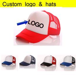 Wholesale Sun Cap Discount - Free DLY LOGO Aduit Trucker Caps Patchwork Candy Color Summer Sun Hats Baseball hat 50% Discount Free Logo for wholesale Printing Mesh Cap