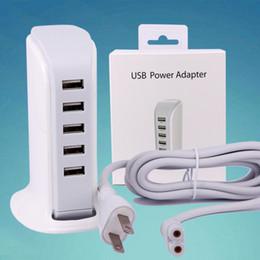 Canada 5 ports USB chargeur mural Dock 20W 5V 4A US EU UK Plug Power AC Voyage Home Adaptateur pour iPhone 6 Plus iPad Samsung Note S7 bord Top Qualité Offre