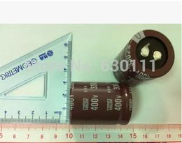 Wholesale Electrolytic Radial Capacitor - Wholesale- 400v 330uf Electrolytic Capacitor Radial 30x40mm (10pcs)