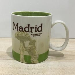 16 oz Capacidade De Cerâmica Starbucks Cidade Caneca Melhor Clássica Caneca De Café Copa Cidade De Madrid de Fornecedores de copos de 16 oz