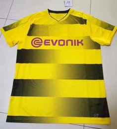 Wholesale bundesliga dortmund home jersey top quality embroidery dortmund home kits