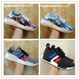 Wholesale Running Tri - 2017 Wholesale Sneakersnstuff NMD Datamosh Pack Collection R1 Primeknit Runner NMD R1 PK Tri-Color Pack Men Womens Shoes Size 36-45