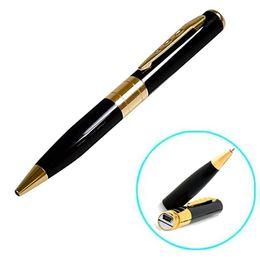 Wholesale Free Audio Recorder - Gold Silver HD Pen Camera DVR Audio Video Recorder Camcorder Mini DV Free Shipping