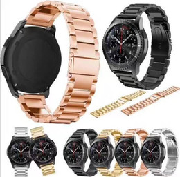 Wholesale Black Metal Gear - best price For Samsung gear s3 Smart Watch Metal Strap link Bracelet Stainless Steel Band watch Bracelet