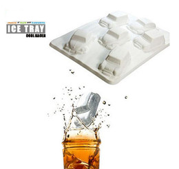 Wholesale Car Moulds - Small car vehicle shape ice mold TPR chocolate candy mould ice cube tray for DIY kitchen tool