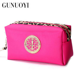 Wholesale Fine Mobile - Wholesale- GUNUOYI Women Cosmetic Bag Travel Makeup Bag Fine Workmanship Portable Pouch Bag Mobile Phone Package Waterproof Zipper