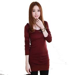 Wholesale Long Body T Shirt Women - Wholesale-Autumn winter long sleeve body shirt women t-shirt plus size casual long t shirt cotton womens tops fashion 2016