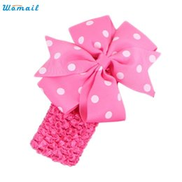 Wholesale Modern Hair Accessories - Wholesale- Modern for 6 months to 3 Years Baby Headbands Girl's Headband Flower Hair Bowknot Wave Head Wear,Ornament accessories,H31
