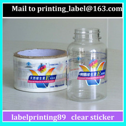 Wholesale Vinyl Printed Labels - customized transparent bottle sticker colorful printing vinyl waterproof clear label factory sales direct