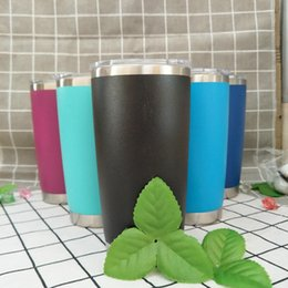 Wholesale Double Wall Color - 20oz Stainless Steel Insulation Cup Cars Beer Mug Tumbler Mugs Double Wall Coffee Mugs 8 Colors OOA2645