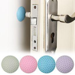 Wholesale Solid Room Doors - Wall Thickening Mute Door Fenders Golf Modelling Rubber Fender The Handle Door Lock After Protective Pad Wall Stickers