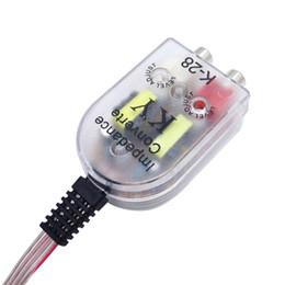 2019 adaptador de coche de alto voltaje Auto de salida de línea convertidor de audio Sound Subwoofer Amplificador labrar del coche del altavoz a RCA Nivel adaptador de mayor a menor sockets # 2383