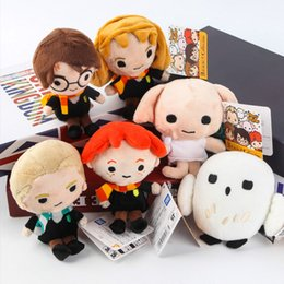 "Wholesale Game Film Movies - Hot New 6 Styles 6"" 15CM Harry Potter Plush Doll Kid's Party Birthday Gifts Film Animation Collection Dolls Soft Stuffed Toys"