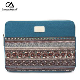 "Wholesale Retro Laptop - Top Quality 13.3"" Laptop Sleeve Bag Canvas Notebook Protective Bags Multifunctional Retro Style Briefcase For 13 Inch Laptop 7H7"