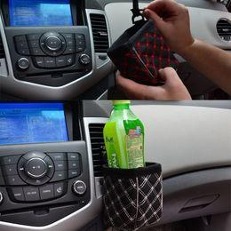 juguetes de tela coche Rebajas Multifuncional coche portavasos microfibra PU bolso de cuero teléfono bolsillo M00093