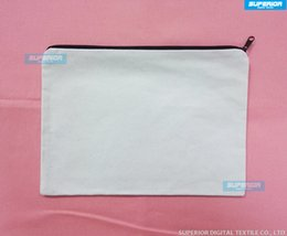 Wholesale Natural Purse - (70pcs lot) White&Natural&Off White Color Pure Cotton Canvas Coin Purse With Black Zipper Unisex Casual Wallet Blank Cometic bag No Lining